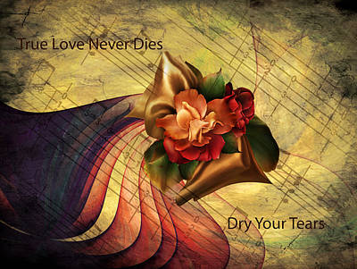 Flowers And Roses Mixed Media - Dry Your Tears Vintage Romance by Georgiana Romanovna