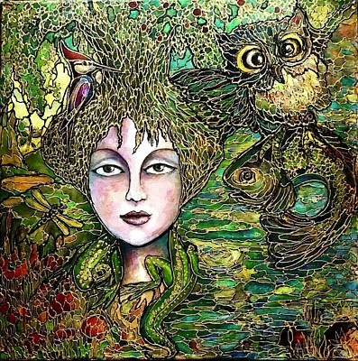 Painting - Dryad's Tale by Rae Chichilnitsky