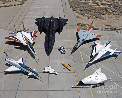 Photograph - Dryden Research Aircraft Fleet 1997 by NASA Science Source