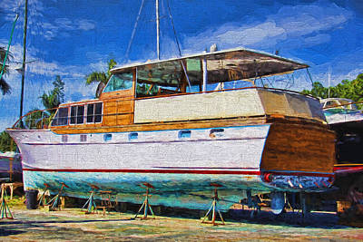 Photograph - Drydocked In Cortez by HH Photography of Florida