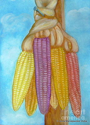 Folkartanna Painting - Drying Ears Of Corn by Anna Folkartanna Maciejewska-Dyba