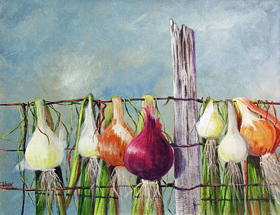 Painting - Drying Onions by Catherine Link