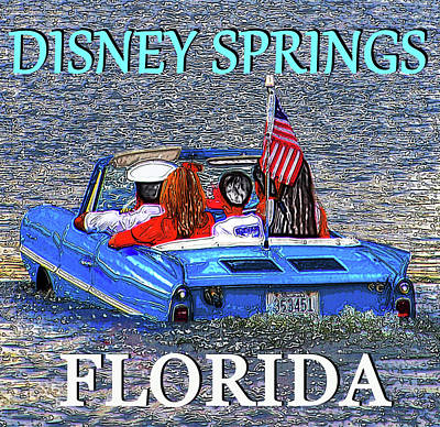 Bot Digital Art - Disney Springs Florida Work 3 by David Lee Thompson