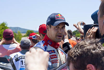 2010 Wrc Photograph - D.sordo 2 Minutes After The Finish by Boyan Dimitrov