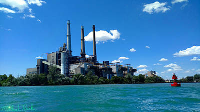 Photograph - Dte River Rouge Power Plant by Michael Rucker