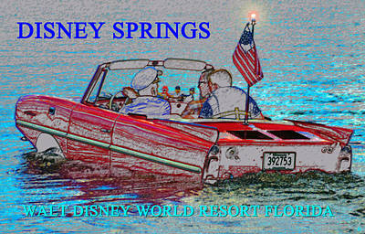 Boating Digital Art - Driving In The Springs by David Lee Thompson