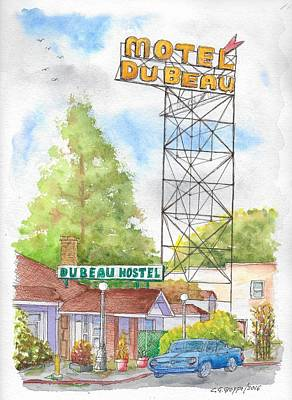 Du Beau Motel, Flagstaff, Arizona Original by Carlos G Groppa