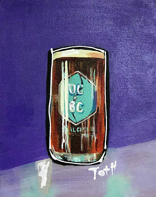 Growler Painting - Dual Citizen by Laura Toth