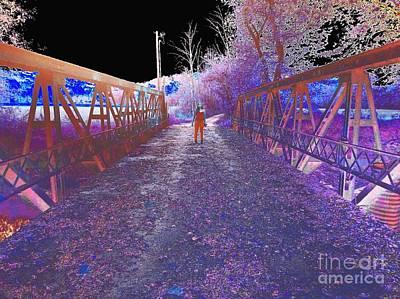 Dual On The Bridge At Dusk - Abstract Art Print by Scott D Van Osdol