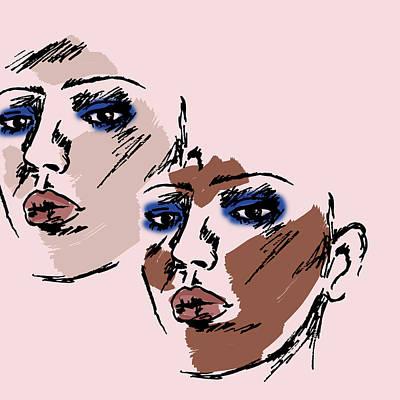 Digital Art - Dual Portrait by Cortney Herron