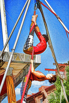 Photograph - Dual Silk Aerialists 2 by Scott Faber