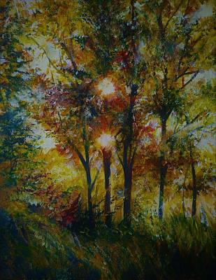Painting - Dual Sun by Anna Duyunova