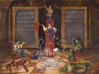 Dual Wizards Duel Original by Jeff Brimley