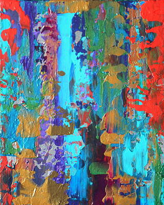 Set Of Four Painting - Duality 1 Diptych by Holly Anderson