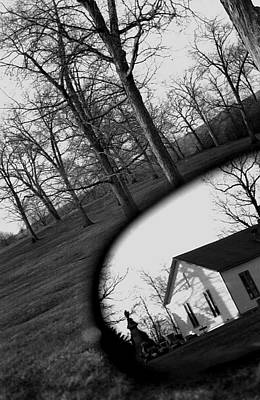 Photograph - Duality - A Black And White Photograph Symbolically Representing The Gravity Of Choice  by Angela Rath