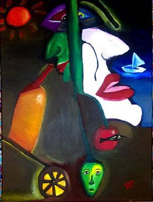 Bottle-nose Painting - Duality by Diana Gorokhovskaya