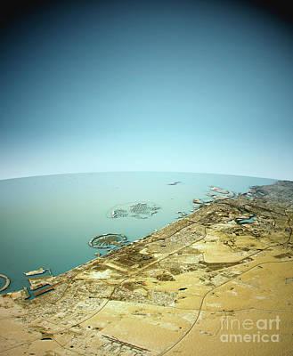 Dubai 3d Landscape View South-north Natural Color Art Print