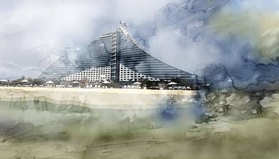 Tehran Painting - Dubai 4453 by Jani Heinonen