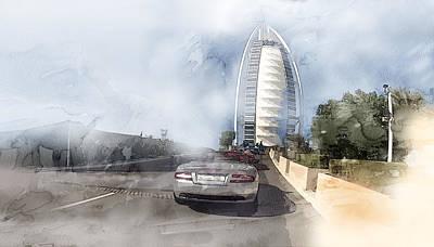 Tehran Painting - Dubai 5890 by Jani Heinonen