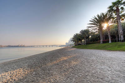 Photograph - Dubai Beach Sunset by David Pyatt