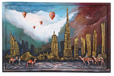 Painting - Dubai-city Of Gold by Arttantra