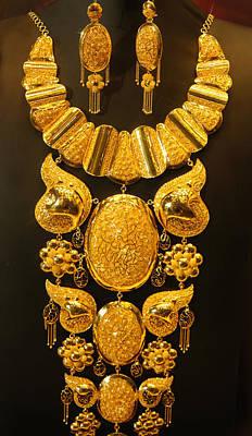 Pure Gold Photograph - Dubai Gold Jewelry by Art Spectrum