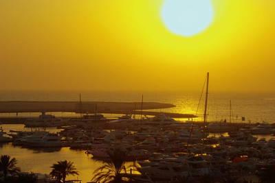 Dubai Marina Jumeirah Sunset Art Print by Iain MacVinish