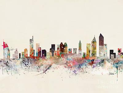 Painting - Dubai Skyline by Bleu Bri