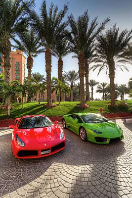 Photograph - Dubai Supercars by David Pyatt