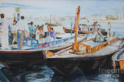 Painting - Dubai Water Taxi by P Anthony Visco