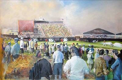 Golf Art Painting - Dubai World Tour Championship 2009 by Mark Robinson