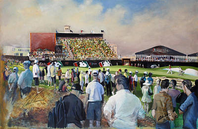 Golf Art Painting - Dubai World Tour Championship by Mark Robinson