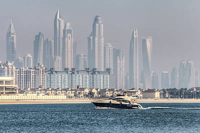 Photograph - Dubai Yacht And Architecture by David Pyatt