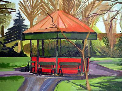 Bandstand Painting - Dublin Bandstand by Brian Junior Lambert