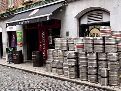 Dublin Beer Kegs Art Print by Rae Tucker