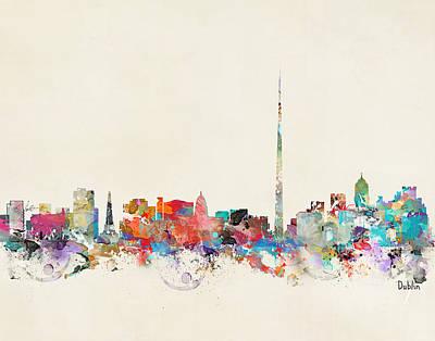 Colourfull Painting - Dublin City Ireland by Bleu Bri