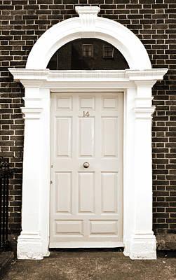 Photograph - Dublin Doors Ireland Classic Georgian Style With Columns Sepia by Shawn O'Brien