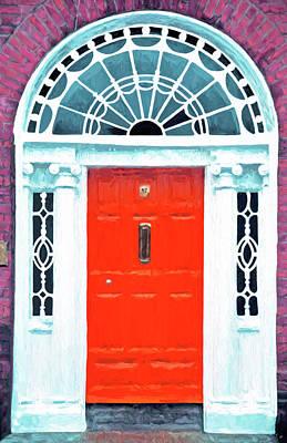 Digital Art - Dublin Georgian Door by Dennis Cox
