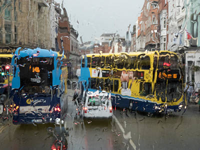 Photograph - Dublin In The Rain 1 by Rob Huntley
