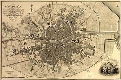Dublin Drawing - Dublin Ireland 1797 by Mountain Dreams