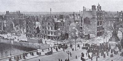 Dublin Drawing - Dublin Ireland Easter Uprising 1916 by Vintage Design Pics