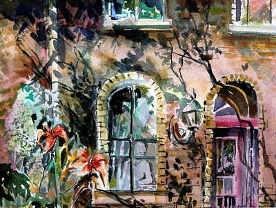 Lilies Mixed Media - Dublin Pub by Mindy Newman
