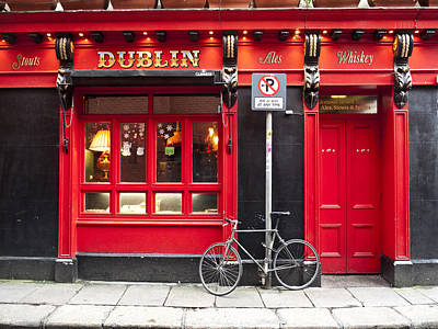 Dublin Red Pub Art Print by Rae Tucker