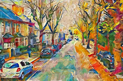 Digital Art - Dublin Side Street by Yury Malkov