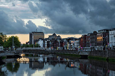 Dublin Sky At Sunset Art Print