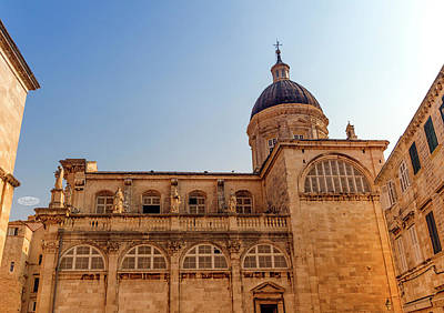 Photograph - Dubrovnik Assumption Cathedral In Center Of Old Town In Dubrovni by Elenarts - Elena Duvernay photo