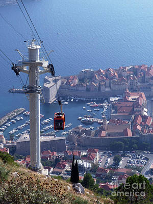 Photograph - Dubrovnik Cable Car - Old City by Phil Banks