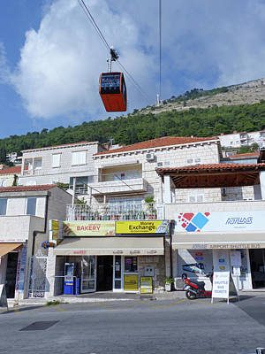 Photograph - Dubrovnik - Cable Car And Shops by Phil Banks