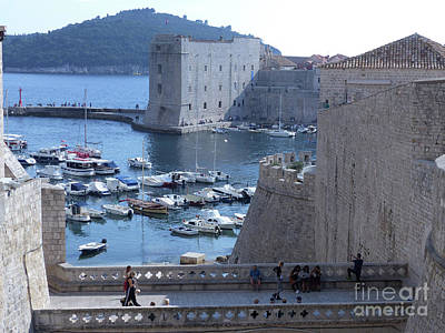 Photograph - Dubrovnik - City Walls And Old Harbour by Phil Banks