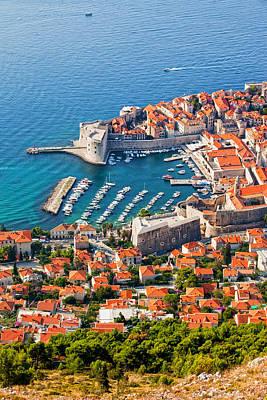Dubrovnik From Above Art Print by Artur Bogacki